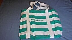 Newport Stripes Beach Tote Bag Canvas PVC Lined Waterproof for Wet Swimsuit NEW