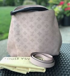 LOUIS VUITTON Mahina Magnolia Pink Babylone PM Crossbody Handbag 2Way
