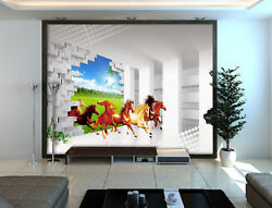 3d Horse Grassland 97 Wallpaper Mural Wall Print Wall Wallpaper Murals Us Carly