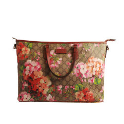 GUCCI Women's Pink GG Supreme Blooms Shopping Tote Bag 410748 NWT