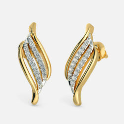 0.72CT NATURAL DIAMOND 14K YELLOW GOLD WEDDING ANNIVERSARY STED EARRING
