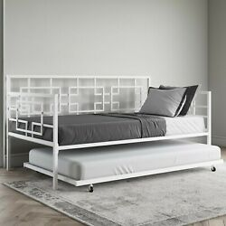 Daybed White Contemporary Home Twin Metal Frame Day Bed Daybed And Trundle Set