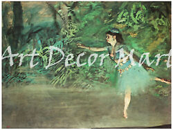 Dancer On The Stage, Degas - - Canvas Or Print Wall Art