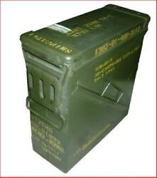Ammo Box Can Pa-125 Ex Military Army Issue Metal Storage Case Heavy Duty Utility
