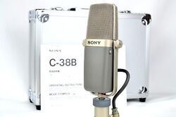 SONY C-38B Vintage Condenser Microphone Mic w new case stand adapter