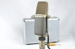 SONY C-38B Vintage Condenser Microphone Mic w mic case & stand adapter & manual