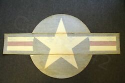 Vintage Usaf Military Complete Authentic Decal Roundel Star Stripes 34 X 62