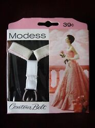vintage 196070's MODESS ladies contour sanitary belt in orig. package white