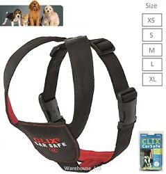 CLIX CAR SAFE DOG PUPPY TRAVEL SEAT BELT CLIP SAFETY HARNESS - ALL SIZES