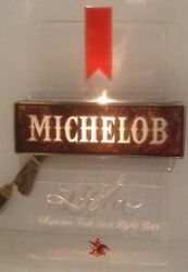 Vintage Michelob Light, Lighted Beer Sign, 18 X 11 Inch Nos Working Nice