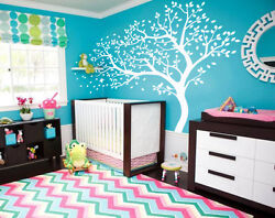 Nursery tree wall decoration baby tree decal Large toddlers room wall decor 098