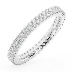 1.50carat Round Brilliant Cut Diamonds Full Eternity Wedding Ring In 950platinum