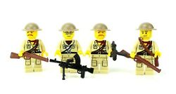 Custom Us Ww2 British Africa Campaign Soldiers Made With Real Legor Uk Squad 4