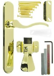 Hampton Products-wright Polished Brass Lever Serenade Mounted Storm Door Latch
