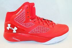 NEW Under Armour Boy's UA ClutchFit Drive 2 Basketball Shoes Red Size 7Y