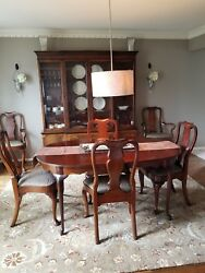 Stunning Hickory Chair Queen Anne Mahogany Furniture Set, Pre-owned