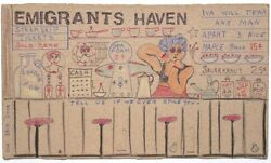 Emigrants Haven On Cracker Box By Outsider Artist Lewis Smith Deceased.