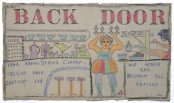 Back Door On Cracker Box By Outsider Artist Lewis Smith Deceased.
