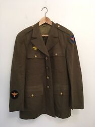 World War 2 1942 Us Air Force Service Jacket Size 40r Made In Usa