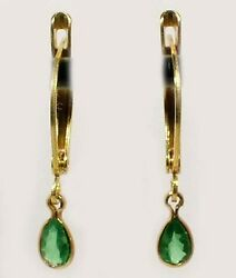 Alexandrite Gold Earrings Andfrac12ct Antique 19thc Russian Natural Color-change Genuine