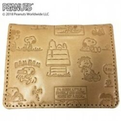 New SNOOPY Comic dollar put 85001818 Natural leather Cute Fashionable Japan
