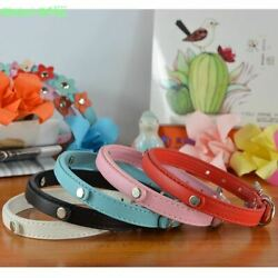 (30 Pieceslot) Wholesale Pet Products  Pu Leather 10MM Personalized Dog Cat Col