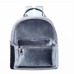 Fashion Simple Designer Backpack Soft Velvet Backpack Women Small Travel Backpac $24.19
