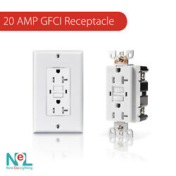 15a/20a Gfci Gfi Safety Outlet Receptacle, Tamper And Weather Resistant, White