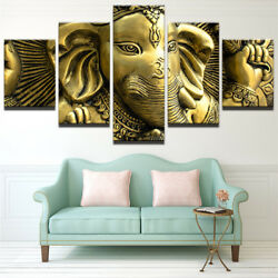 Ganesh Remover Of Obstacles 5 Piece Canvas Print Wall Art Poster