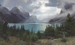 Phillip Philbeck Afternoon at Saint Mary Lake Giclee on Canvas Super Grande Ed
