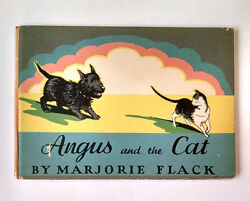 Marjorie Flack ANGUS AND THE CAT 1931 1st Edition HC Scottish Terrier