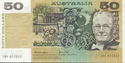 Australia And039knight - Stoneand039 Paper 50 1979. Virtually Uncirculated