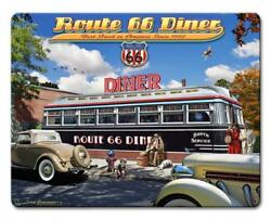 New 1936 Route 66 Diner Car Vintage Classic Automobile Hot Rod Metal Sign Lgb781
