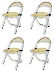 Set 4 Chairs Resealable Plexiglass Years 70 Vintage Acryling Folding Chairs Plia