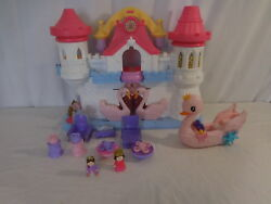 Fisher Price Imaginext Precious Places Palace Castle + Princess Swan Pink Swan +