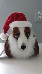 Hush Puppies Basset Hound Xmas Plush NEW WTags By Applause