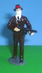 Toy Soldiers 1930and039s American Mobster Bank Robber Thompson Machine Gun 54 Mm