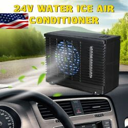 24V Portable Car Air Conditioner Home Evaporative Water Cool Fan 60W Dash Mount