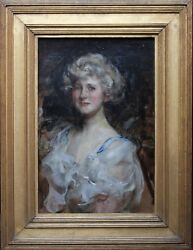 JAMES JEBUSA SHANNON BRITISH EDWARDIAN SOCIETY PORTRAIT OIL PAINTING 1862-1933