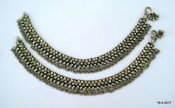 Vintage Antique Tribal Old Silver Anklet Feet Bracelet Ankle Chain Jewelry