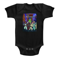 The Real Ghostbusters Infant Bodysuit Poster Black Romper