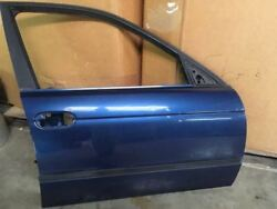98 99 00 Bmw 528i Blue Right Passenger Front Door Shell Only