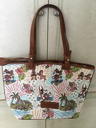 Disney Dooney & Bourke Aulani MICKEY MINNIE CHIPDALE Tote - NWT Retired