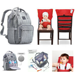 Multi-Function Waterproof Maternity Nappy Bags and Portable Baby Chair Harness