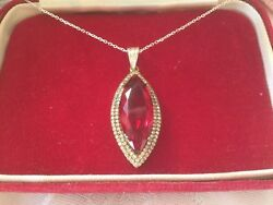 Art Deco Vintage Jewellery Necklace With Sterling Silver Chain Antique Jewelry