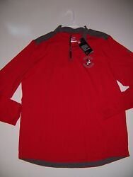 NWT Boston University Terriers Under Armour Cold Gear Men's Shirt 14 zip Large