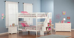 Woodland Staircase Bunk Bed Full Over Full
