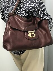 Tod's TODS Gorgeous Slouchy Oxblood BrownRed Large Hobo Shoulder Bag