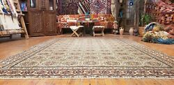 Natural Dyes Cr1960-1980s Vintage 6and0394andtimes9and0395 Wool Pile Rose Medallion Hereke Rug