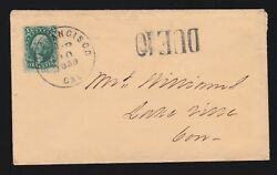 Us 33 10c Washington On Cover With Due 10 Marking F-vf Scv 250+